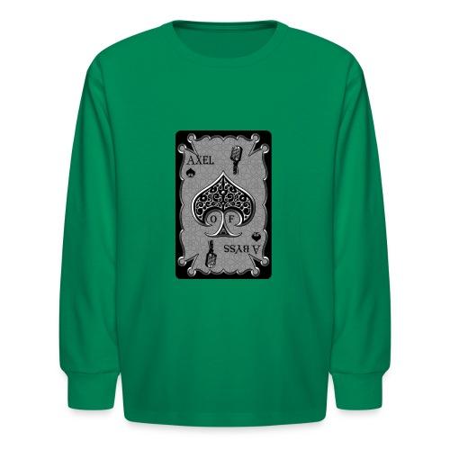 Axelofabyss Spade Card - Kids' Long Sleeve T-Shirt