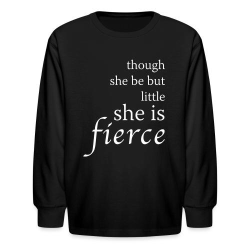She Is Fierce - Kids' Long Sleeve T-Shirt