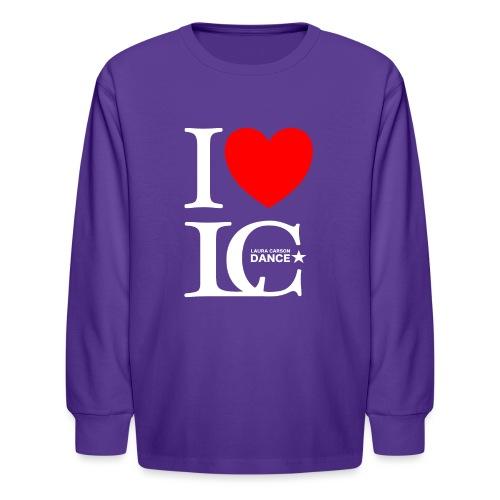 I Heart LCDance - Kids' Long Sleeve T-Shirt
