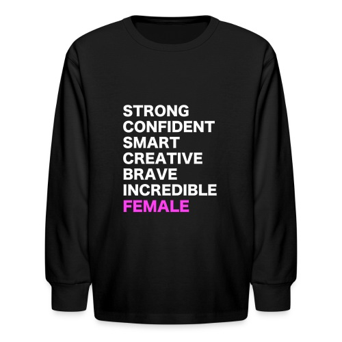 FEMALE SHIRT DESIGN - Kids' Long Sleeve T-Shirt