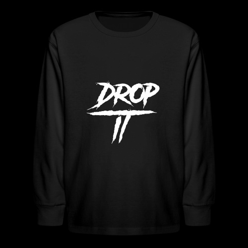 DROP IT Original Logo - Kids' Long Sleeve T-Shirt