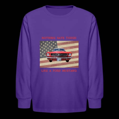 Mustang Tough - Kids' Long Sleeve T-Shirt