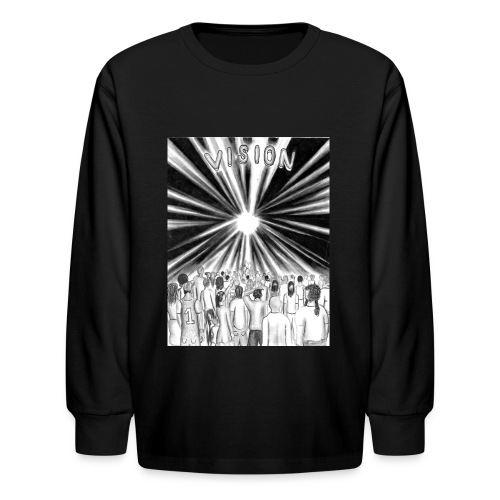 Black_and_White_Vision - Kids' Long Sleeve T-Shirt