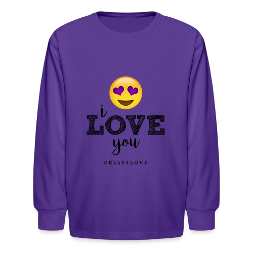 I LOVE you - Kids' Long Sleeve T-Shirt