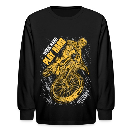 MX Play Hard Orange - Kids' Long Sleeve T-Shirt