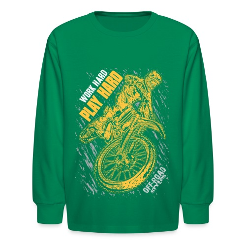 MX Play Hard Orange - Kids' Long Sleeve T-Shirt