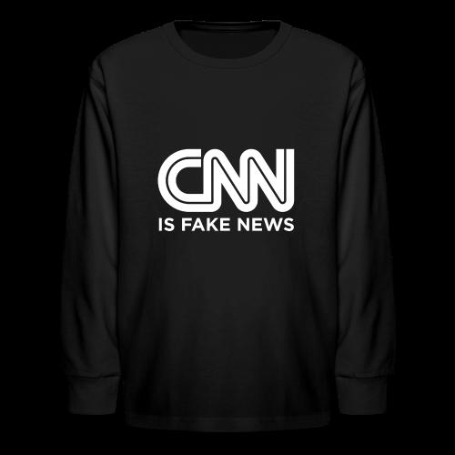 CNN Is Fake News - Kids' Long Sleeve T-Shirt