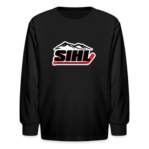 SIHL Logo White Outlined - Kids' Long Sleeve T-Shirt