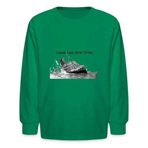 Enron Scandal Joke - Kids' Long Sleeve T-Shirt