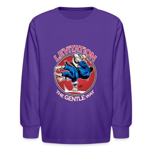 Judo Levitation for dark shirt - Kids' Long Sleeve T-Shirt