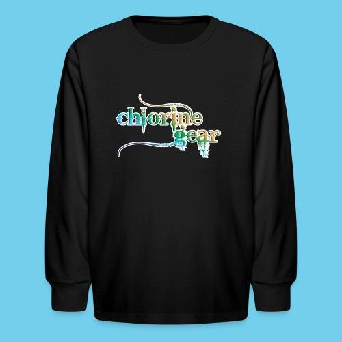 Chlorine Gear Text Rainbow warrior - Kids' Long Sleeve T-Shirt