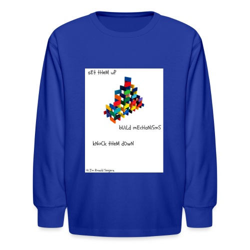Hi I'm Ronald Seegers Collection-dominoes - Kids' Long Sleeve T-Shirt