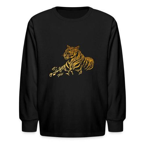 Gold Tiger - Kids' Long Sleeve T-Shirt