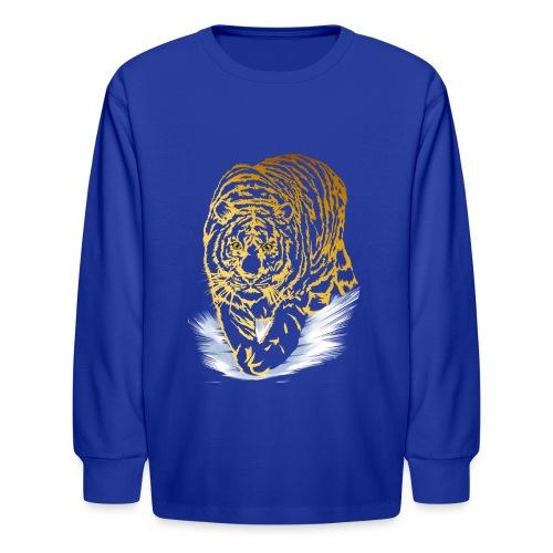 Golden Snow Tiger - Kids' Long Sleeve T-Shirt
