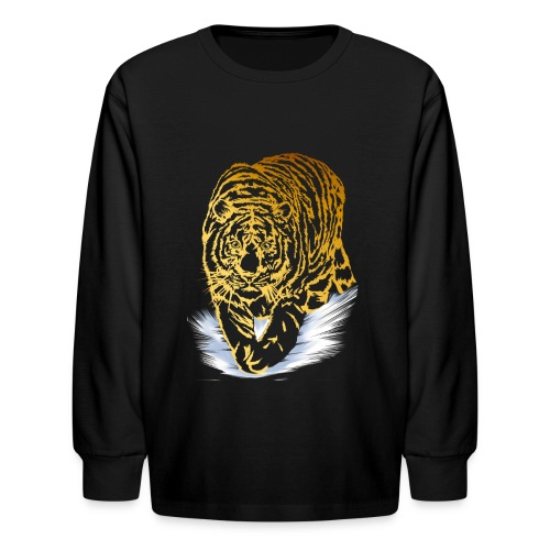 Golden Snow Tiger - Kids' Long Sleeve T-Shirt