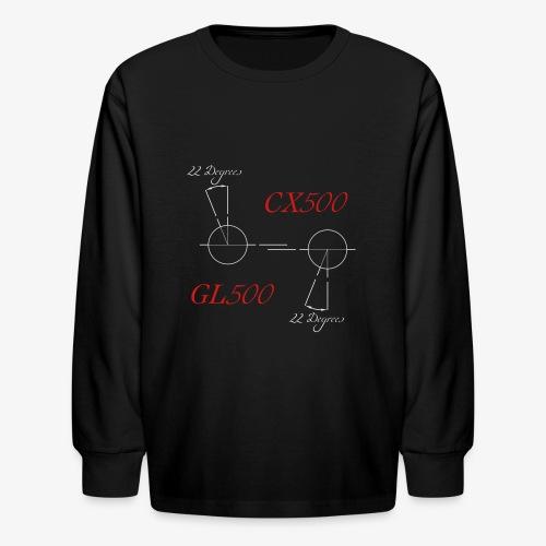 CX500 and GL500 - 22 degree twist - Kids' Long Sleeve T-Shirt