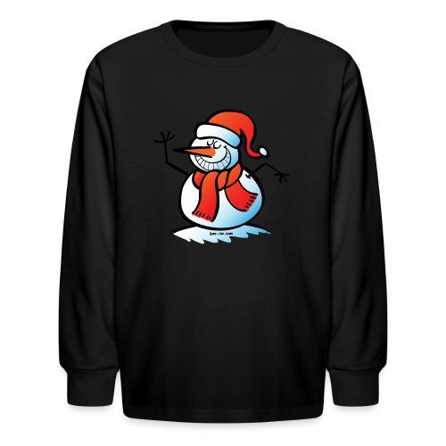 Grinning Snowman - Kids' Long Sleeve T-Shirt