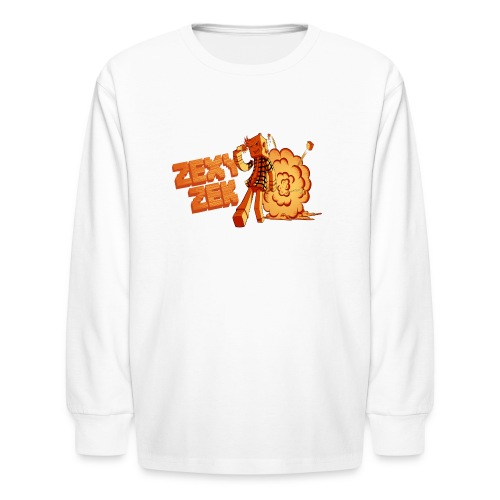 FireZek png - Kids' Long Sleeve T-Shirt
