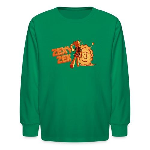 FireZek png - Kids' Long Sleeve T-Shirt