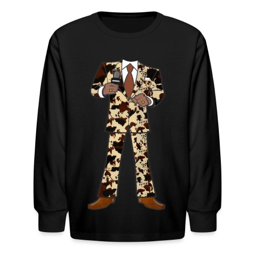 The Classic Cow Suit - Kids' Long Sleeve T-Shirt