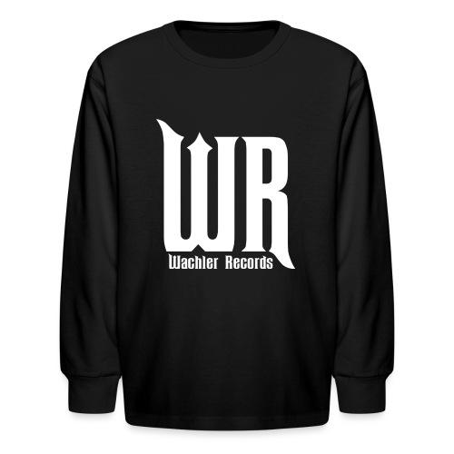 Wachler Records Light Logo - Kids' Long Sleeve T-Shirt