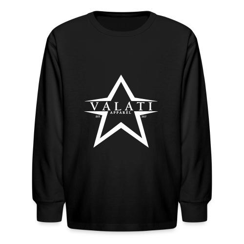 V-Star White - Kids' Long Sleeve T-Shirt