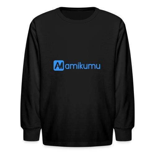 Amikumu Logo Blue - Kids' Long Sleeve T-Shirt