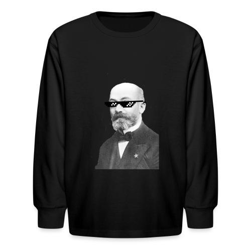Zamenhof Shades (BW) - Kids' Long Sleeve T-Shirt