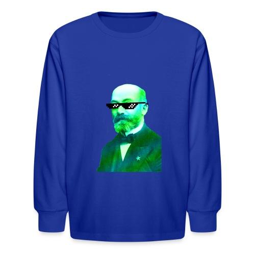 Green and Blue Zamenhof - Kids' Long Sleeve T-Shirt
