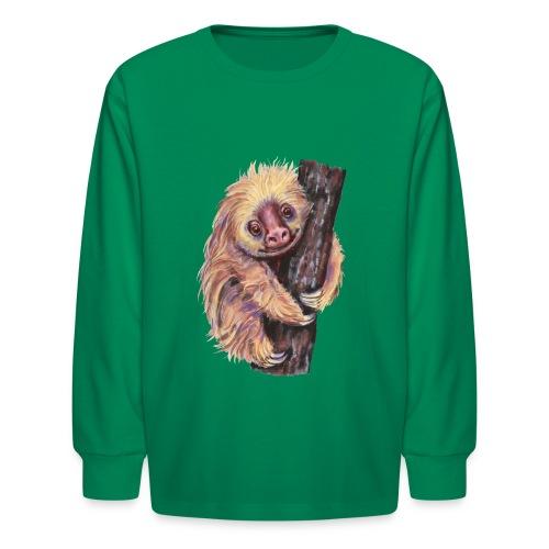 Sloth - Kids' Long Sleeve T-Shirt