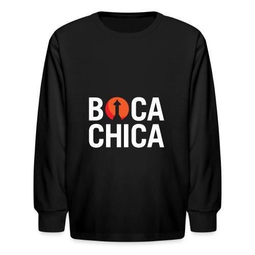 Boca Chica Starship Mars Silhouette - Kids' Long Sleeve T-Shirt
