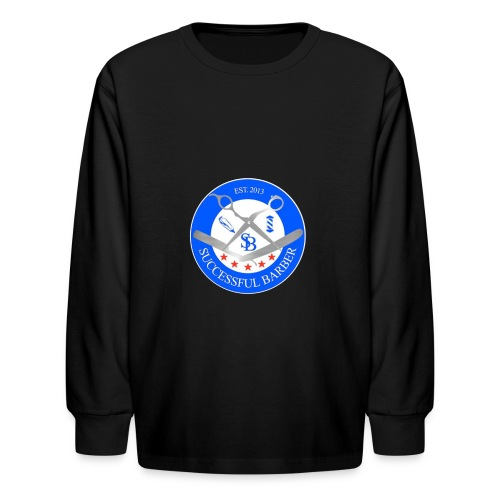 Successful Barber Seal - Kids' Long Sleeve T-Shirt