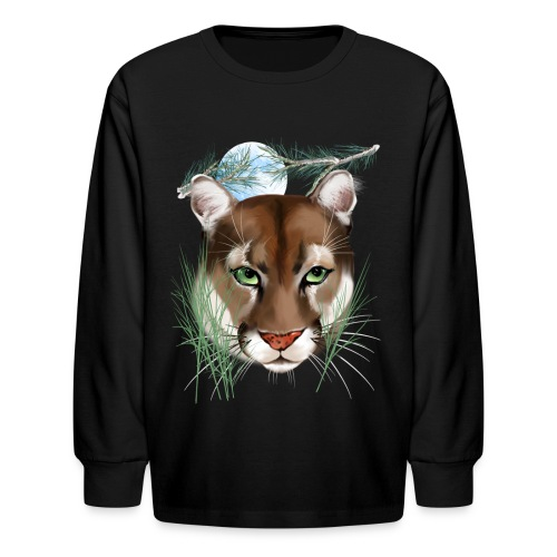 Midnight Puma - Kids' Long Sleeve T-Shirt