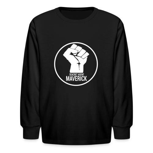 Seacret Agent Maverick - Black Shirts - Kids' Long Sleeve T-Shirt