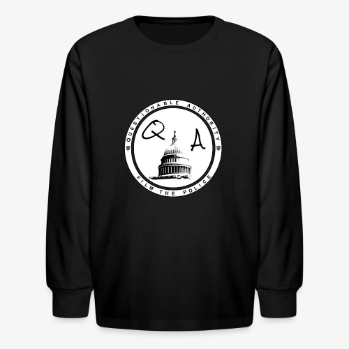 Questionable Authority Film the Police - Kids' Long Sleeve T-Shirt