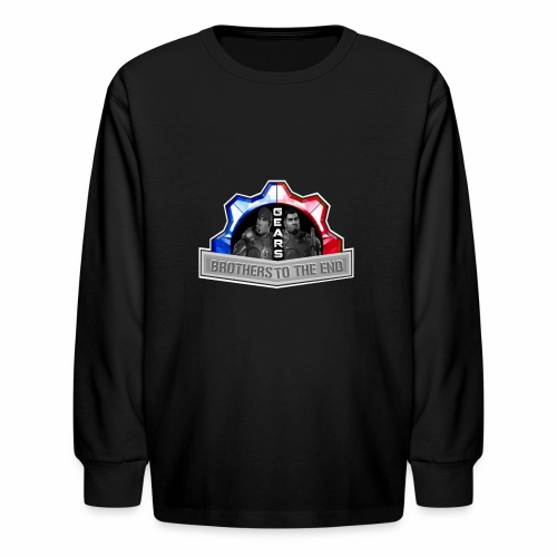 BROS TO THE END GEARS - Kids' Long Sleeve T-Shirt