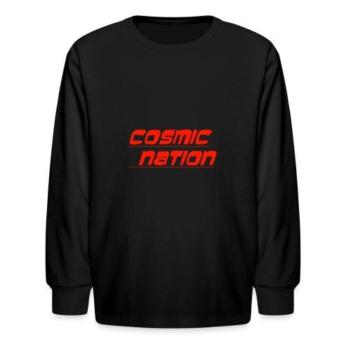 Cosmic Nation Logo - Kids' Long Sleeve T-Shirt