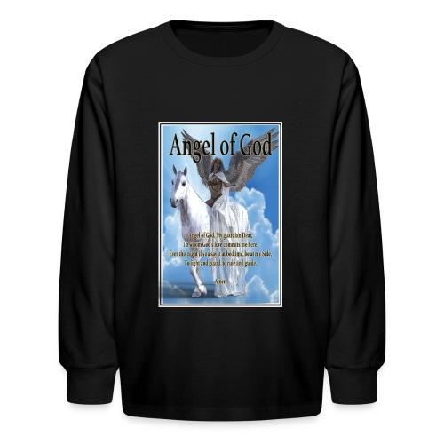 Angel of God, My guardian Dear (version with sky) - Kids' Long Sleeve T-Shirt