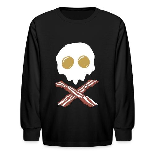 Breakfast Skull - Kids' Long Sleeve T-Shirt
