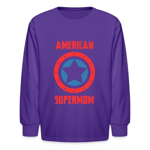 American Supermom - Kids' Long Sleeve T-Shirt