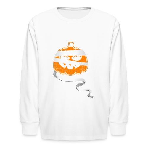 Halloween Bandaged Pumpkin - Kids' Long Sleeve T-Shirt