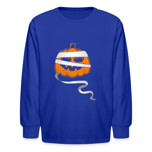 Halloween Bandaged Pumpkin - Kids' Long Sleeve T-Shirt