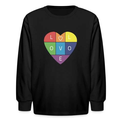 Rainbow Heart - Kids' Long Sleeve T-Shirt