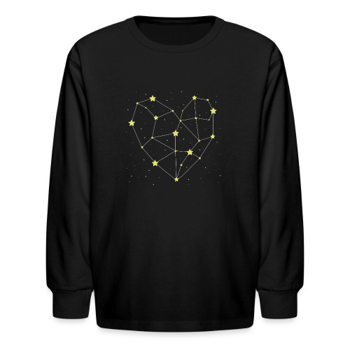Heart in the Stars - Kids' Long Sleeve T-Shirt