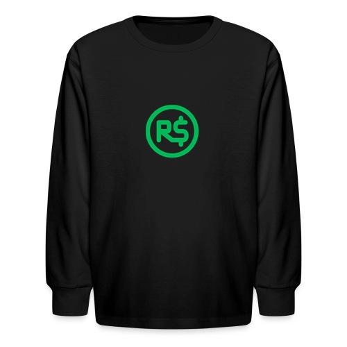 Robux Logo shirts - Kids' Long Sleeve T-Shirt