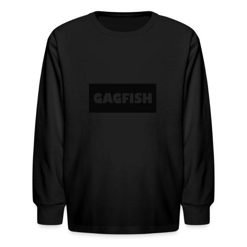 GAGFISH BLACK LOGO - Kids' Long Sleeve T-Shirt