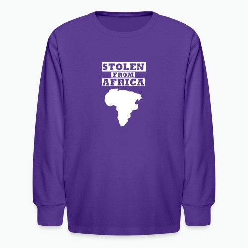 SFA LOGO WHITE - Kids' Long Sleeve T-Shirt