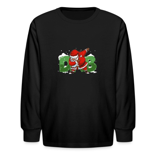 Dabbing Santa - Kids' Long Sleeve T-Shirt