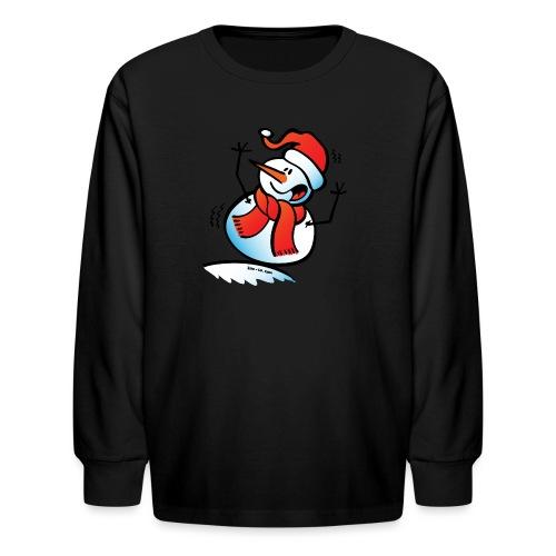 Snowman Toppling Over - Kids' Long Sleeve T-Shirt