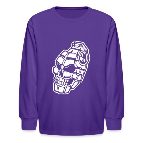 Skull Grenade - Kids' Long Sleeve T-Shirt